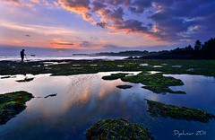 from a distance (Dyahniar Labenski) Tags: sunset bali beach reflections nikon lowtide niar 1024mm pererenan d7000 ikniroviolet dyahniar