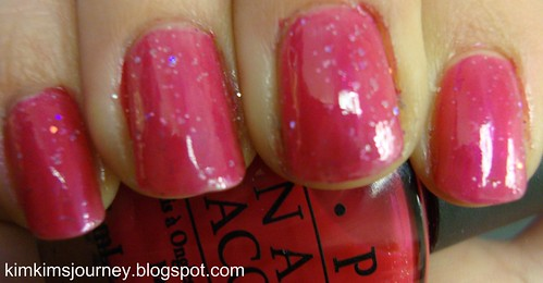 China Glaze - Sprinkles + Nova + OPI Too Hot Pink to Hold Em