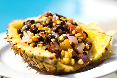 Grilled Corn, Pineapple & Black Bean Salad