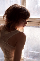 Morning 5 (LOGUSS) Tags: life morning light portrait people woman color cute sexy home window girl beautiful beauty face up closeup modern lady female happy person model women pretty close view natural body interior joy young fresh human romantic