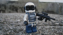 NeoTech Security Trooper (The Brick Guy) Tags: trooper lego security future aug custom visor cyberpunk minifigure totalrecall neotech brickarms amazingarmory
