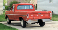 Red Ford (Eyellgeteven) Tags: red classic ford truck vintage rust rusty pickup f150 rusted 1970s beater madeinusa americanmade longbed worktruck eyellgeteven