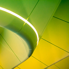 (Daisy Swain) Tags: lighting roof light building green yellow architecture scotland glasgow council lime curve architects touristattraction zahahadid transportmuseum canon60d riversidemuseum pointhousequay