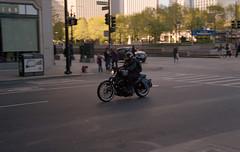 bike in black (bavan.prashant) Tags: chicago kodak epson v600 160 nikkon fe2 potra