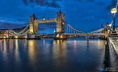 Tower Bridge during the blue hour...(Explored) (mlphoto) Tags: nightphotography light england london night towerbridge pentax unitedkingdom explore vip bluehour hdr longtimeexposure pentaxk20d mlphoto mlphoto markuslandsmannzenfoliocom