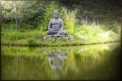 Buddha am Teich - Buddha on the pond (vampire-carmen) Tags: trees sculpture reflection texture water statue photoshop germany asian bayern deutschland bavaria spring pond wasser europa europe buddha skulptur montage alemania mirage teich bume spiegelung hdr frhling asiatisch canoneos600d nepalhimalayatempel buddhaopdiedam budanpellg   kohaqqndabuddha balsaebuddha    buddhapdammen budhosurlalageto buddhaontiik buddhaonlammen bouddhasurltang budanalagoa buddha   boudasouletanan   buddhadikolam buddhaaranlochn bddatjrninni buddhasullostagno     buddhanaribnjak buddhainpiscinam budauzda budaanttvenkinio  bwdhaarypwll cphttrnao    buddhasatubigannaang budaenelestanque   buddhafuqlgadira buddanastawie