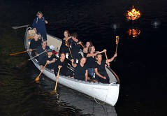 To commemorate the Gaspee Affair, members of the Buzzards Bay Rowing Club and the Azorean Rowing Club, passed through the fires at 10:00 pm with their whaling boats, which are similar to the original long-boats used by Gaspee raiders.