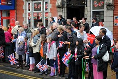 The Union Inn crowd seem pleased (zawtowers) Tags: road june manchester happy pub inn day cloudy union sunday crowd torch stockport passing olympic 37 raining 24th relay day37 a6 2012 pleased m19 levenshulme