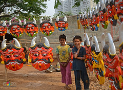 """""""ANGELS & DEMONS"""" (GOPAN G. NAIR [ GOPS Photography ]) Tags: india children religious photography mask evil belief demon nair gops gopan gopsorg gopangnair gopsphotography beilieves"""