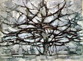 Mondrian arvore cinza 1911