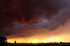 Oh how it rained... (pic fix) Tags: city uk sunset sky urban storm colour london