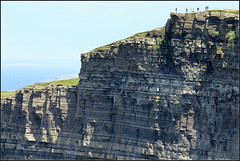 On top of the cliffs (catb -) Tags: ireland sea people rock clare cliffs fa