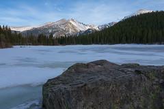 Frozen Bear Lake in May (Matt Thalman - Valley Man Photography) Tags: winter mountain lake snow rock landscape frozen nationalpark colorado unitedstates rmnp longspeak estespark rockymountainnationalpark bearlake stormpeak