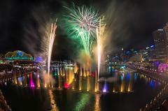 Vivid Aquatique 2014 (elpolodiablo) Tags: show water pentax harbour sydney vivid firework fisheye da darling 1017 k5 iis 2014 aquatique