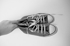 The oldest Ones (Gorana Guiboud-Ribaud) Tags: chucks converse schwarzweiss blackandwhite shoes chuck taylor oldchucks