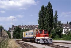 Emmerich, Hafenbahn in 1994 (Ahrend01) Tags: hafenbahn emmerich emmerik rijnhaven ok locomotief dieselloc huckepack