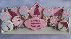 Baby Shower Platter (Songbird Sweets) Tags: umbrella 100v10f babyshower sugarcookies babycarriage rattles