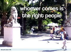 whoever comes is the right people (ost)