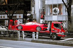 Ferrari on Omotesando Dori (tokyofashion) Tags: red car japan speed truck tokyo automobile ferrari harajuku bateau lmp challenge sportscar omotesando motorsport petit f360 ferrari360 omotesandodori 2011 360challenge lmpmotorsport