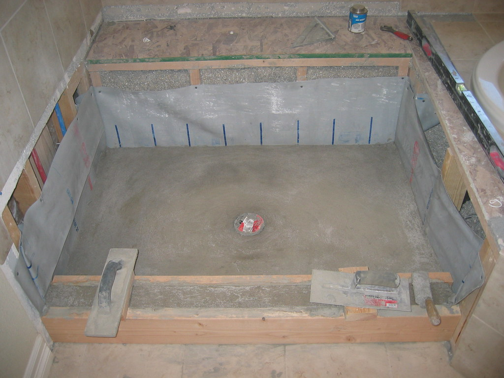 Concrete Shower Pan
