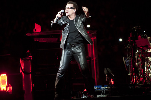U2 at Angel Stadium Night Two Bono (6/18/11)