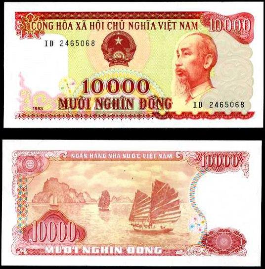 10 000 Dong Vietnam 1993, Pick 115