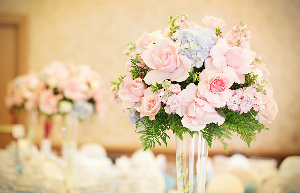 Fresh Flower Wedding Centerpiece