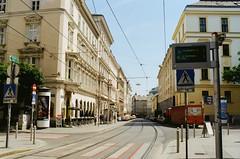 Vienna Siebensterngasse (yuopus) Tags: vienna 35mm nikon kodak fm2 f20 colorplus200 siebensterngasse nikkoroc yuopus