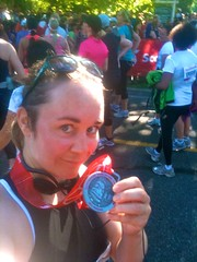 With my latest half marathon medal -Scotiabank Half Marathon 2011