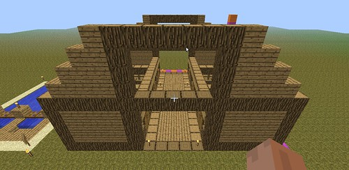 Then I Placed Logs To Frame The Loft