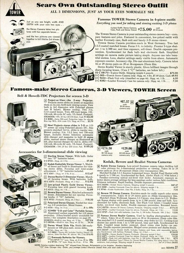 1958 Sears: Stereo Cameras
