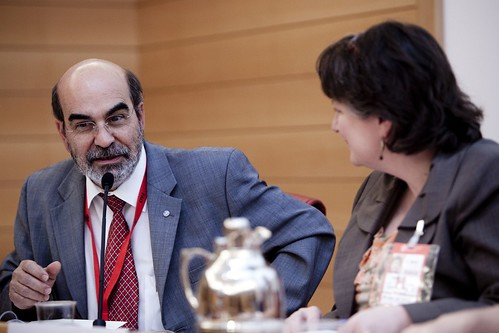 27 June 2011, Rome - FAO's Director-General elect José Graziano Da Silva. A Dialogue on Women in Agriculture: Where to after SOFA? Side event sponsored by the Rome Women's Network co-hosted by the United States and Kenya. FAO Conference, 37th Session. FAO headquarters (Austria Room). Co-Hosted by Ambassador of the United States of America to the UN Agencies in Rome Ertharin Cousin Ambassador of the Republic of Kenya to Italy and Permanent Representative to FAO, IFAD, and WFP Josephine Wangari Gaita. Presentations by: Ambassador Melanne Verveer, Ambassador-at-Large for Global Women's Issues for the United States of America; Dr. Agnes Kalibata Minister of Agriculture of Rwanda; Ann Tutwiler Deputy Director General for Knowledge of the UN Food and Agriculture Organization. Copyright ©FAO. Editorial use only. Photo credit must be given: ©FAO/Alessandra Benedetti