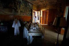 She Alone (WaysBcn) Tags: she abandoned hotel mujer alone decay daniel comida silence bambi lampara romero chateau ways mesa pi