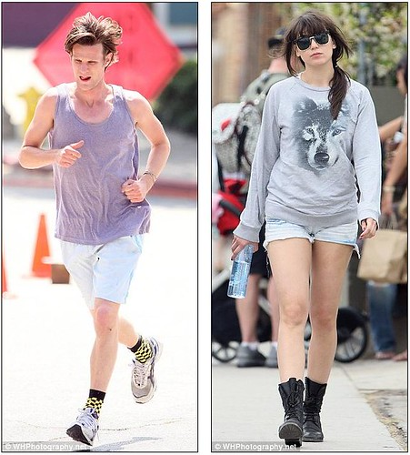 Matt Smith and Daisy Lowe take their never-ending PDA Stateside     9