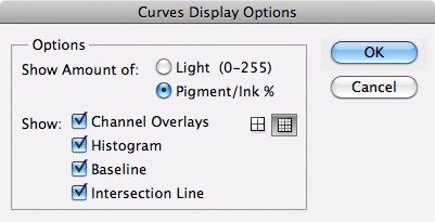 Curve Display Options