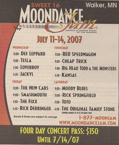 07/11 - 14/07 Moondamce Jam 16 @ Walker, MN
