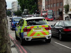 City Police X5 (kenjonbro) Tags: uk white london interesting police scout explore automatic bmw 30d x5 2011 arv cityoflondonpolice xdrive explored armedresponsevehicle fujihs10 lo11efn