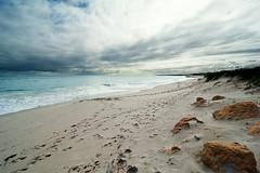 (Derpmachine) Tags: beach clouds footprints australia 2011 d700 atx1628mmf28profx