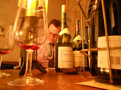 Sommelier at Marche Aux Vins in Beaune