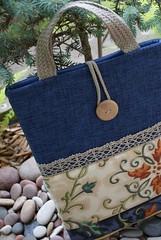 Laptop sleeve for 13 inch Macbook (SandraStJu) Tags: blue bag notebook handmade laptop case cover clutch accessories sleeve purses sewn macbook