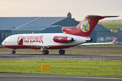 N727VJ 727-44 Kingfisher (Stewart Marshall) Tags: scotland airport aviation kingfisher prestwick ayrshire trijet boeing727 corporatejet 72744 glasgowprestwick runway13 n727aj unitedbreweriesholdings