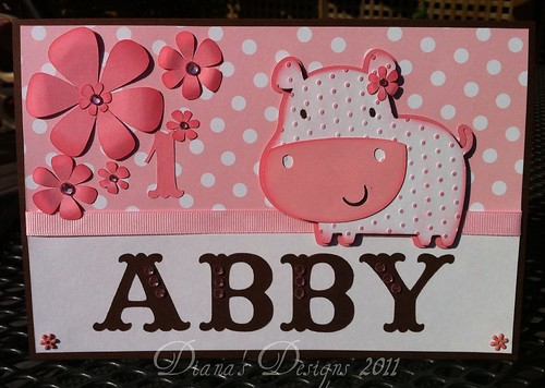Personalized Baby Girl Birthday Card
