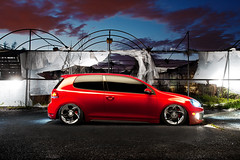 Mike Bonnell - VW GTI MK6 (Ronaldo.S) Tags: red vw nikon air gti tornado f28 slammed alienbees 2035mm mk6 b800 alphards