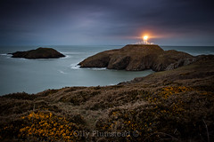 Lighthouse (Olly Plumstead) Tags: ocean morning sea seascape night dark landscape dawn early moody gloomy spooky le olly pembrokeshire headland plumstead 5d2 canon5dmarkii ollyplumstead