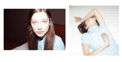 Sasha (IrinaSlipchenko) Tags: blue color girl hair dress flash slip badroom kikoslip