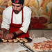 Sous chef from Bar Pintxo in Santa Monica prepares tapas at Jordan Winery's 4 on 4 Art Competition at Hadid Gallery on April 11