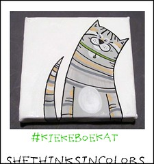 KiekeboeKATJE (shethinksincolors) Tags: cats art home colors katten kat paintings kitty card greetingcard gatto gatti acrylics acryl schilderijen kleur kiekeboe sendasmile shethinksincolors