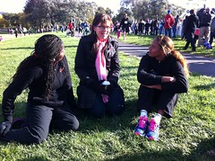 """Nicky and Grace chatting to Sports' Minister Kate Lundy • <a style=""""font-size:0.8em;"""" href=""""https://www.flickr.com/photos/64883702@N04/7194297076/"""" target=""""_blank"""">View on Flickr</a>"""