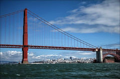 S. Tower & Ft. Point (LifeLover4) Tags: sanfrancisco california skyline canon landscape cityscape goldengatebridge boating getty buoy circularpolarizer ftpoint ggnra ggb 75thanniversary 550d buoyant efs1755mmf28isusm t2i parkpic lifelover4 stickneydesign ggb75