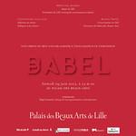 Babel - Palais des Beaux Arts de Lille, 2012
